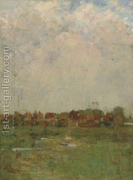 Landscape (Marshland) by Childe Hassam - Reproduction Oil Painting