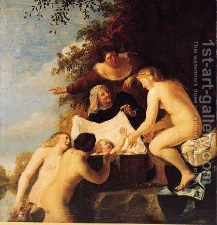 The Finding of Moses by Christiaen van Couwenbergh - Reproduction Oil Painting
