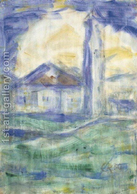 Kirche im Tessin by Christian Rohlfs - Reproduction Oil Painting