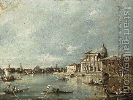 San Giorgio Maggiore, Venice by (after) Giacomo Guardi - Reproduction Oil Painting