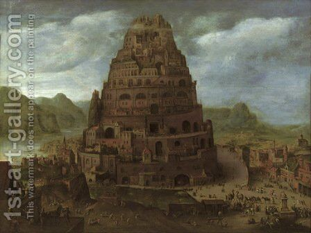 The Tower of Babel by (after) Abel Grimmer - Reproduction Oil Painting
