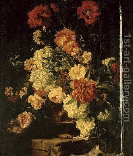 Still life by (after) Abraham Brueghel - Reproduction Oil Painting