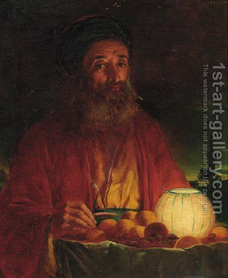 The Orange Seller by (after) Abraham Solomon - Reproduction Oil Painting