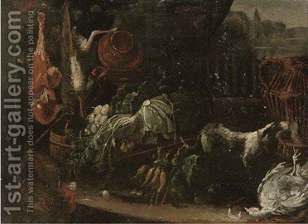 Vegetables by (after) Adriaen De Gryeff - Reproduction Oil Painting