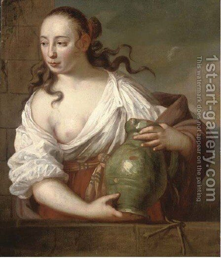 Rebecca at the Well by (after) Adriaen Hanneman - Reproduction Oil Painting