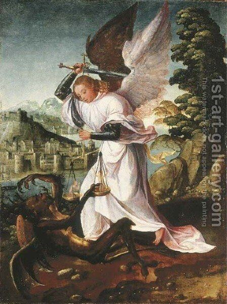 Saint Michael by (after) Adriaen Isenbrandt (Ysenbrandt) - Reproduction Oil Painting