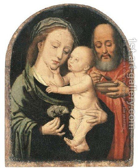 The Holy Family by (after) Adriaen Isenbrandt (Ysenbrandt) - Reproduction Oil Painting