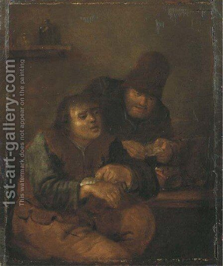At the village doctor by (after) Adriaen Jansz. Van Ostade - Reproduction Oil Painting
