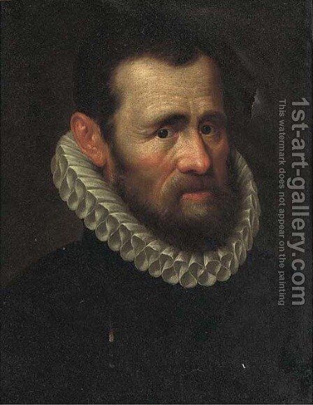 Portrait of a gentleman by (after) Adriaen Thomasz. Key - Reproduction Oil Painting