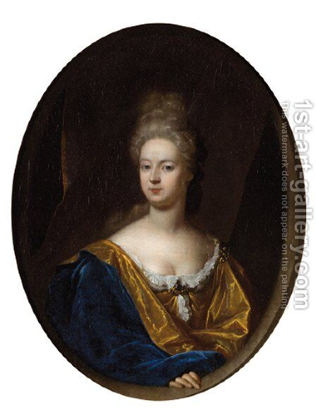 Portrait of a noblewoman by (after) Adriaen Van Der Werff - Reproduction Oil Painting