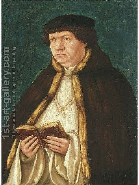 Portrait of a cleric by (after) Albrecht Altdorfer - Reproduction Oil Painting