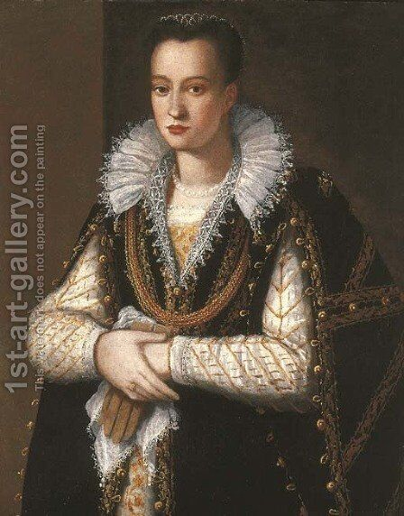 Portrait of a noblewoman by (after) Alessandro Allori - Reproduction Oil Painting