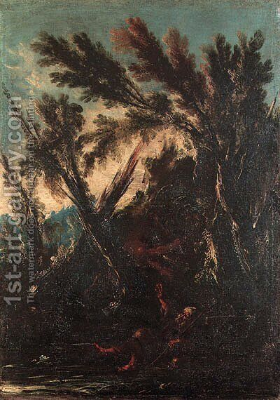 The Temptation of Saint Anthony by (after) Alessandro Magnasco - Reproduction Oil Painting