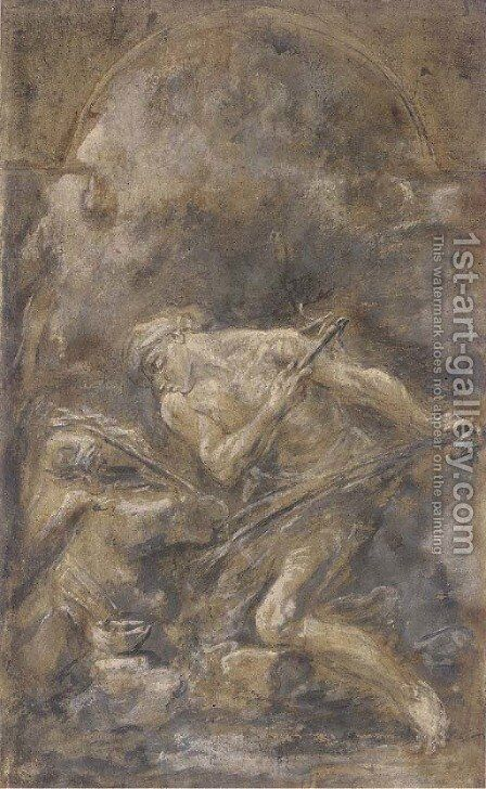 A flagellant hermit by (after) Alessandro Magnasco - Reproduction Oil Painting