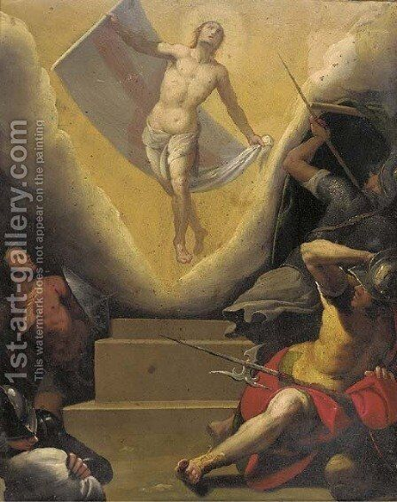 The Resurrection by (after) Alessandro Tiarini - Reproduction Oil Painting