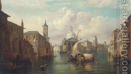 A Venetian capriccio by (after) Alfred Pollentine - Reproduction Oil Painting
