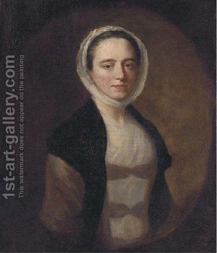 Portrait of a lady 2 by (after) Allan Ramsay - Reproduction Oil Painting