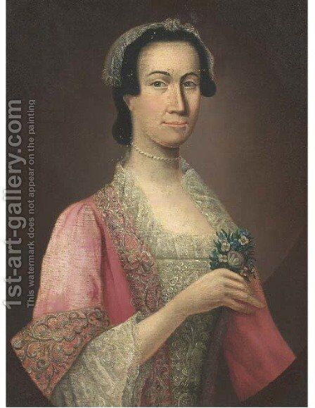 Portrait of a lady 3 by (after) Allan Ramsay - Reproduction Oil Painting