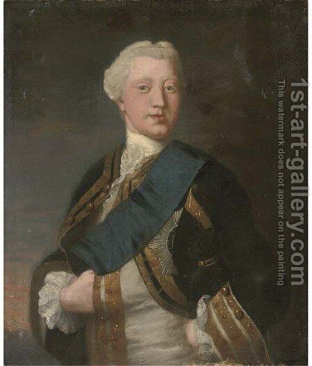 Portrait of George III as Prince of Wales (1738-1820) by (after) Allan Ramsey - Reproduction Oil Painting