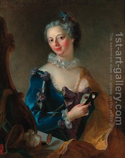 Portrait of a lady by (after) Allesandro Longhi - Reproduction Oil Painting