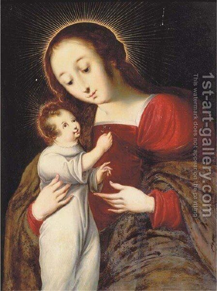 The Virgin and Child by (after) Ambrosius Benson - Reproduction Oil Painting