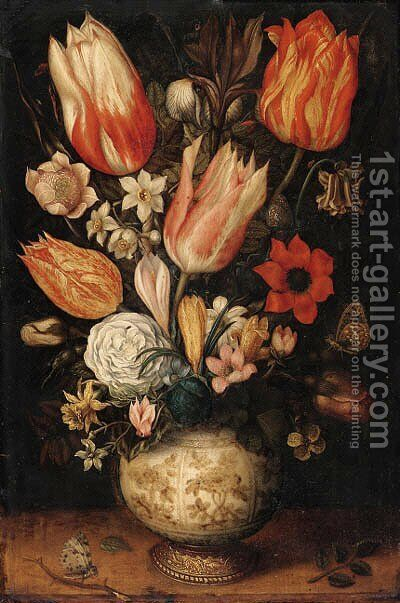 Still life by (after) Ambrosius Bosschaert I - Reproduction Oil Painting