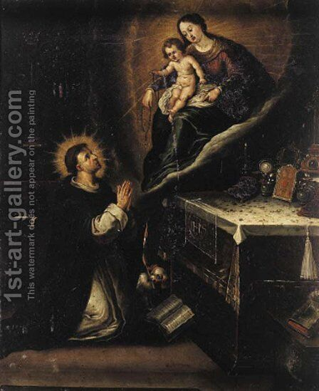 The Vision of Saint Dominic by (after) Ambrosius Francken I - Reproduction Oil Painting