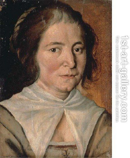 Study of a woman by (after) Annibale Carracci - Reproduction Oil Painting
