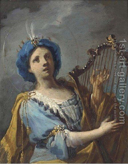 Saint Cecilia by (after) Anton Kern - Reproduction Oil Painting
