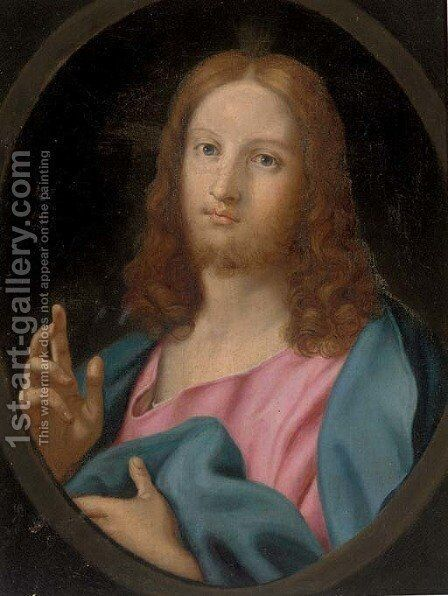 Christ Blessing by (after) Mengs, Anton Raphael - Reproduction Oil Painting