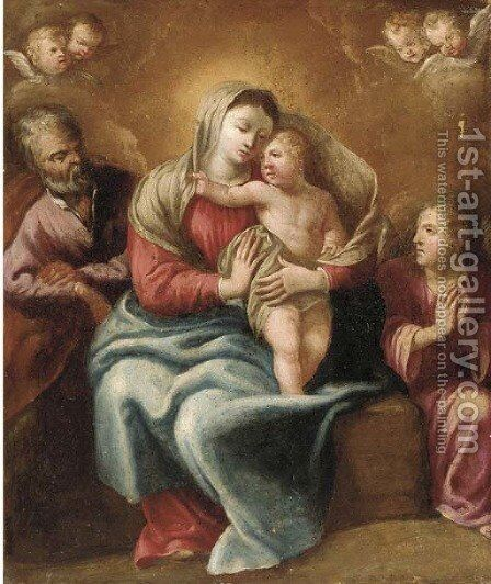 The Holy Family with an Angel by (after) Mengs, Anton Raphael - Reproduction Oil Painting