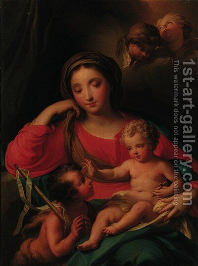 The Madonna and Child with the Infant Saint John the Baptist by (after) Mengs, Anton Raphael - Reproduction Oil Painting