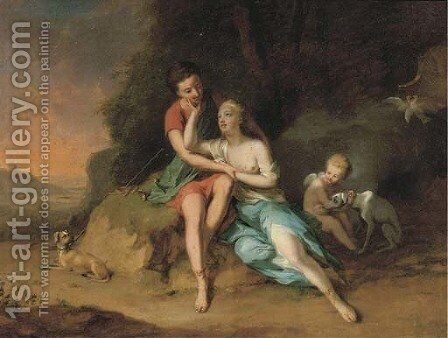 Venus and Adonis by (after) Anton Wilhelm Tischbein - Reproduction Oil Painting