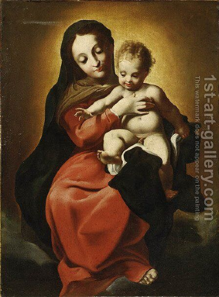 The Madonna and Child by (after) Antonio Allegri, Called Correggio - Reproduction Oil Painting