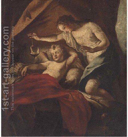 Cupid and Psyche by (after) Antonio Bellucci - Reproduction Oil Painting