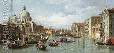 The Entrance to the Grand Canal, Venice, with the church of Santa Maria della Salute by (after) (Giovanni Antonio Canal) Canaletto - Reproduction Oil Painting