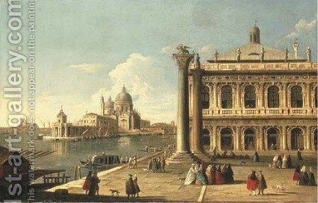 The Piazzetta di San Marco, Venice, with the Libreria by (after) Antonio Joli - Reproduction Oil Painting