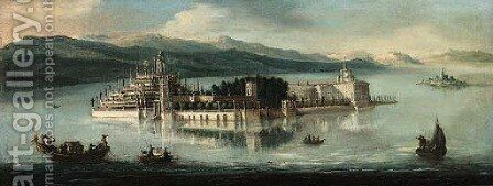 View of Isola Bella, Lake Maggiore by (after) Antonio Joli - Reproduction Oil Painting