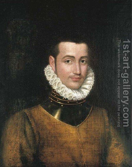 Portrait of a gentleman by (after) Antonis Mor - Reproduction Oil Painting