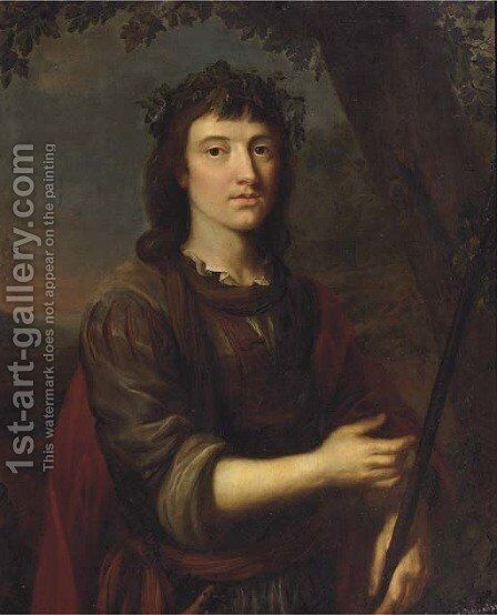Portrait of a young man by (after) Arie De Vois - Reproduction Oil Painting