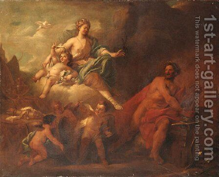 Venus and Mars in Vulcan's Forge by (after) Arnold Houbraken - Reproduction Oil Painting