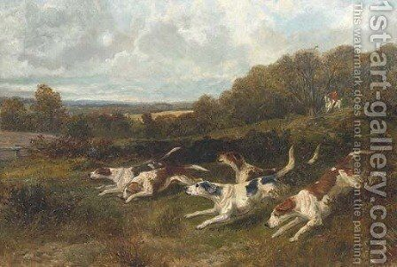 Hounds on the scent by (after) Arthur Alfred Davis - Reproduction Oil Painting