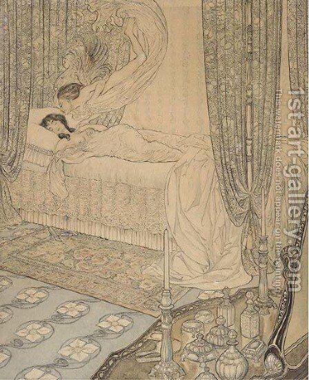 The awakening by (after) Arthur Rackham - Reproduction Oil Painting