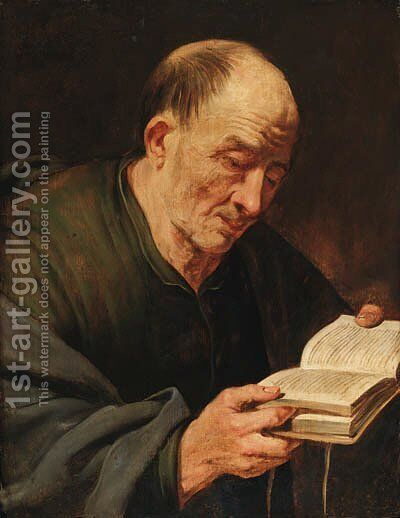 An apostle by (after) Artus Wolfaerts - Reproduction Oil Painting