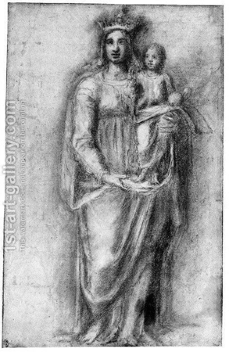 The Virgin And Child by (after) Fra Bartolommeo Della Porta - Reproduction Oil Painting