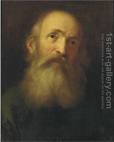 An old man by (after) Balthasar Denner - Reproduction Oil Painting