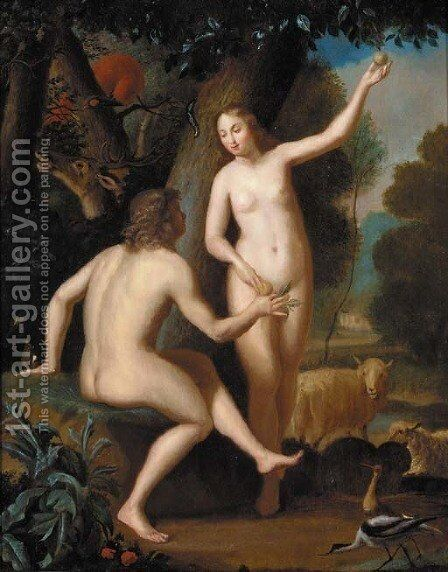 Adam and Eve by (after) Balthazar Beschey - Reproduction Oil Painting