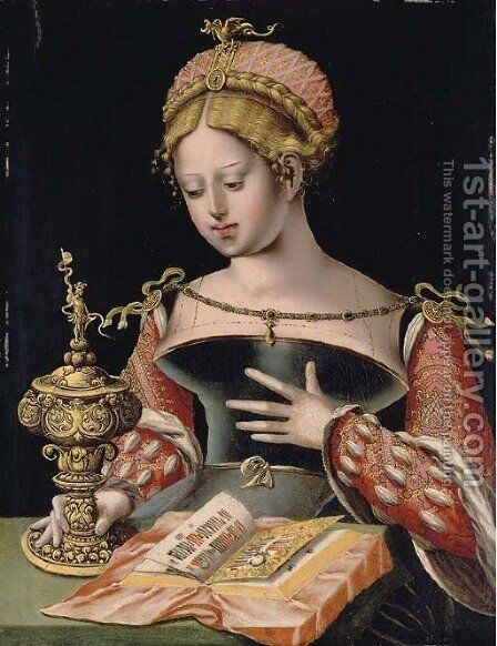 Saint Mary Magdalene by (after) Orley, Bernard van - Reproduction Oil Painting