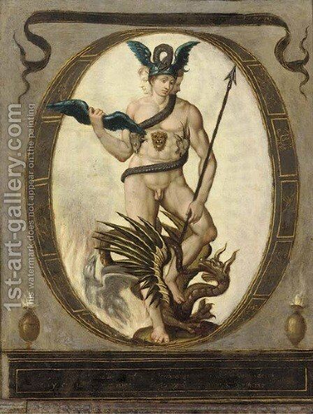 An Allegory of Alchemy by (after) Bartholomaeus Spranger - Reproduction Oil Painting