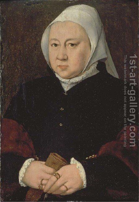 Portrait of a lady by (after) Barthel Bruyn - Reproduction Oil Painting